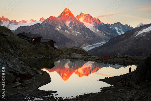 Crystal Lakes Chamonix in the Alps Wallpaper Mural