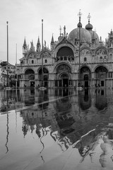 flood in Venice at morning