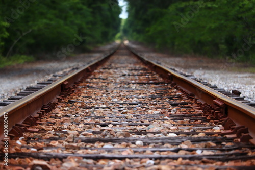 Fotografie, Obraz  close up railroad