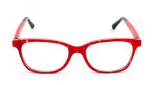 Red Eye Glasses On White Background