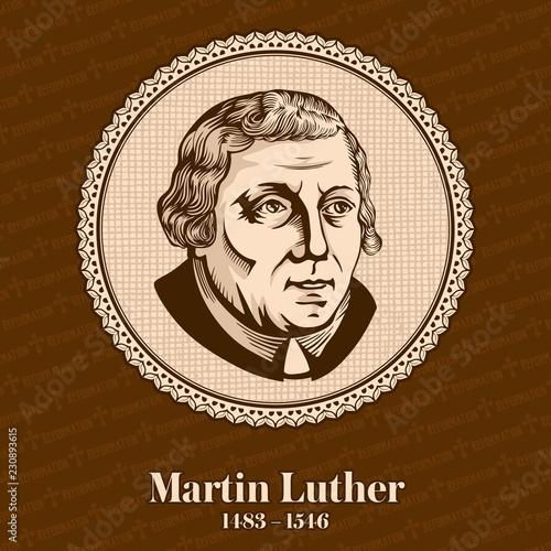 Martin Luther (1483 – 1546) was a German professor of theology, composer, priest, monk, and a seminal figure in the Protestant Reformation Wallpaper Mural