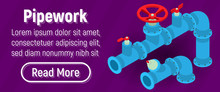 Pipework Concept Banner. Isome...