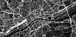 Urban vector city map of Frankfurt, Germany
