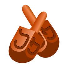 Jewish Dreidel Icon. Cartoon Of Jewish Dreidel Vector Icon For Web Design Isolated On White Background