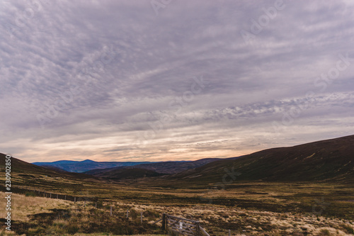 Mountains Across the Scottish Highlands Canvas Print