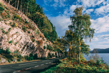 Road Down The Side Of Loch Ness - Scotland
