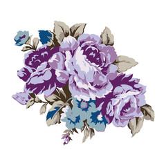 Vintage roses design element