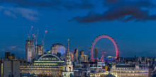London Skyline With London Eye...