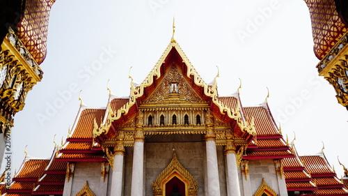 Tuinposter Bedehuis Marble Temple, Bangkok, Thailand