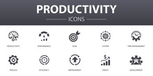 Productivity Simple Concept Ic...