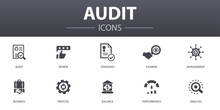 Audit Simple Concept Icons Set...