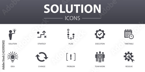 Solution simple concept icons set Canvas Print