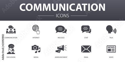 communication simple concept icons set Wallpaper Mural