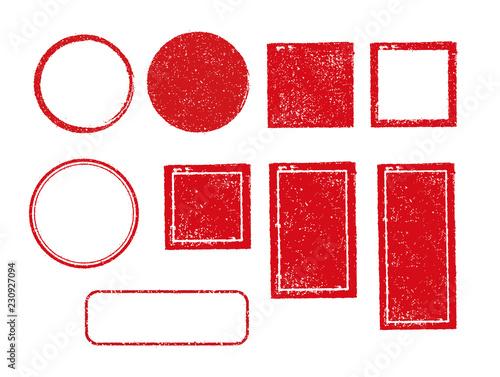 Valokuva rubber stamp frame set (square, circle, rectangle etc.)