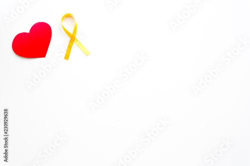 Endometriosis  Gynecological diseases concept  Symbolic yellow