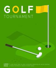 Golf Tournament Flat Vector Pr...