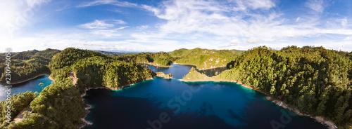 Fototapeta  Vista panoramica en parque nacional lagunas de montebello
