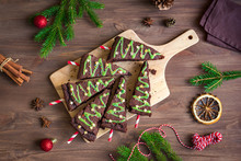 Brownies Christmas Trees