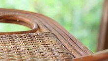 Close-up Of Weave Chair