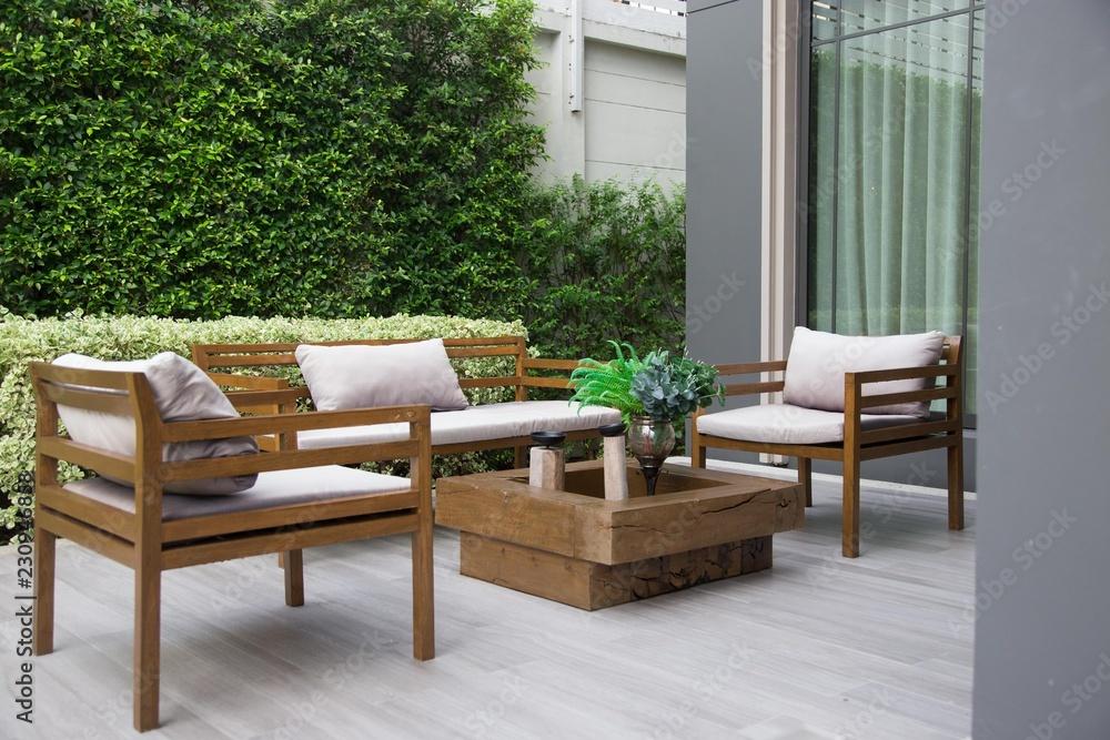 Fototapety, obrazy:  Wooden furniture set.
