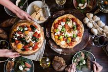 Serving A Pizza Food Photograp...