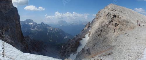 Fototapeta Włochy, Dolomity - Włochy, Dolomity - Ferrata Dibona w masywie Cristallo obraz