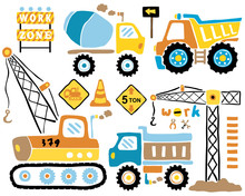 Vector Set Of Construction Veh...