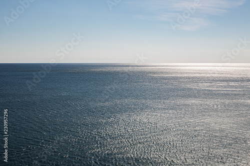 Keuken foto achterwand Zee / Oceaan Atlantic ocean - beautiful seascape sea horizon and blue sky, natural photo background
