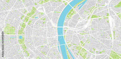Urban vector city map of Cologne, Germany – kaufen Sie diese ...