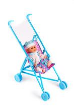 Toy Stroller On White Background