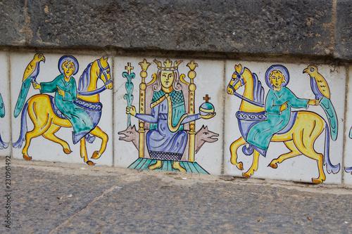 Fényképezés  Le famose ceramiche della Scalinata di Santa Maria del Monte di Caltagirone in S