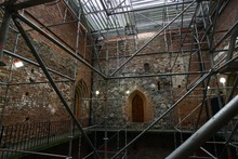 Restoration Of The Walls Of A Medieval Castle
