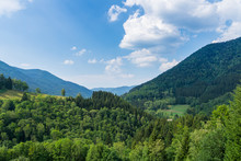 Germany, Infinite Black Forest Countryside Of Mountains And Valleys