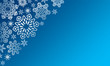 Winter background with various snowflakes. Vector graphic pattern.