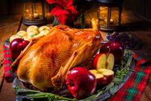 Festive Stuffed Roast Goose Wi...