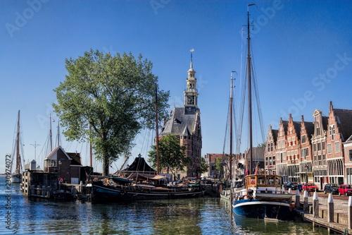 Tuinposter Poort Hoorn, Alter Hafen
