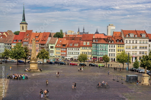 Staande foto Europese Plekken Erfurt