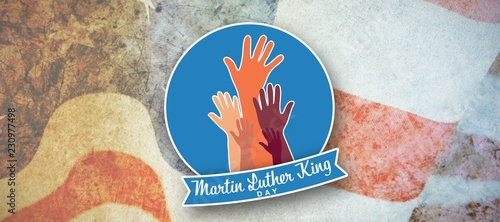Composite image of martin luther king day with hands Canvas Print