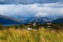 Scottish Village And Landscape, Camus Crois, Sleat Peninsula, Isle Of Skye, Scotland