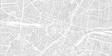 Urban Vector City Map Of Munich, Germany