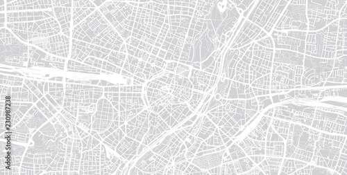 Obraz na plátně Urban vector city map of Munich, Germany