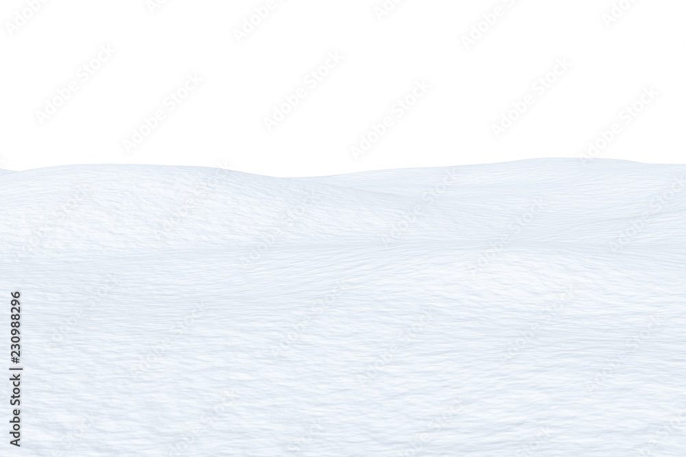 Fototapety, obrazy: Snow field with smooth surface isolated