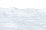 Snowfield with hills isolated