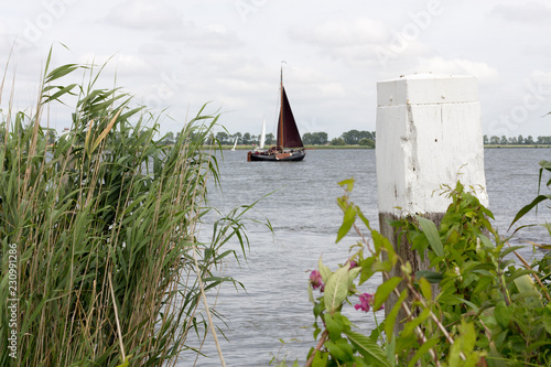 Fototapeten Natur A view over a lake in the Netherlands.