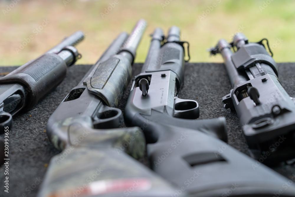 Fototapeta Shotgun automatic and single shot