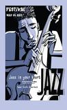 Plakat jazzowy z kontrabasem - 230996275