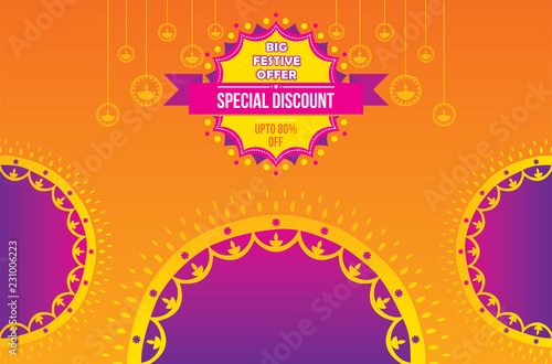 creative diwali festival offer poster design layout template