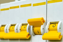 Circuit Breakers Close-up With...