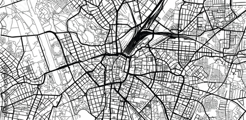 Canvas Print Urban vector city map of Leipzig, Germany