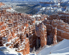 Winter Snow In Bryce Canyon Na...